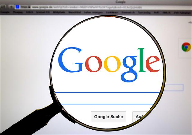 Google Suche am Computer